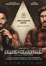 Plakat filmu Czarne bractwo. Blackkklansman